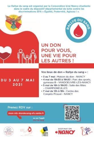 Affiche Rallye Don du Sang